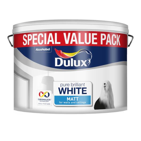 Dulux Matt Pure Brilliant White Special Value 7.5L