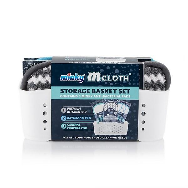 White Cloth Storage Basket Set