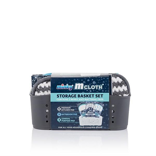 Grey Cloth Storage Basket Set