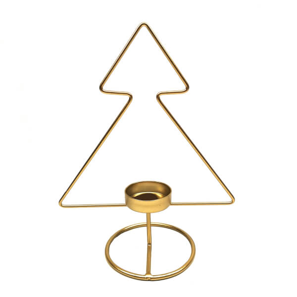 Gold Wire Tree Candle Holder