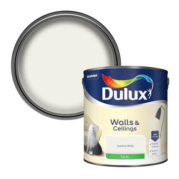 Dulux Jasmine White - Silk Emulsion Paint - 2.5L