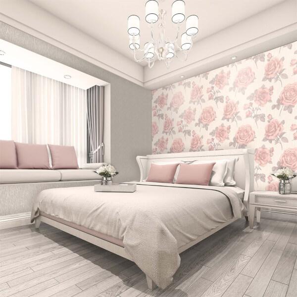 Belgravia Decor Amara Soft Pink Rose Wallpaper