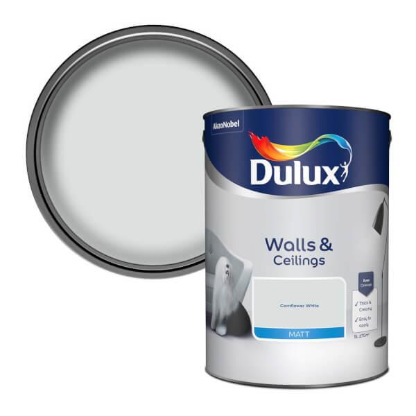 Dulux Natural Hints Cornflower White - Matt Emulsion - 5L