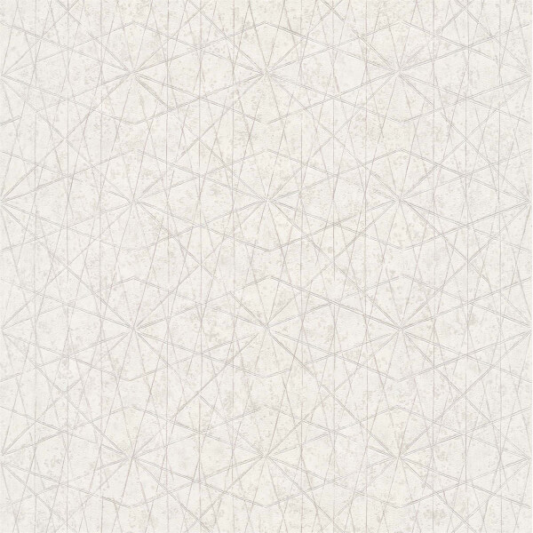 Grandeco  Wari White Wallpaper