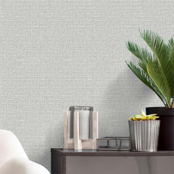 Belgravia Decor Giorgio Soft Silver Texture Wallpaper