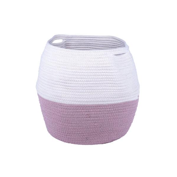 Round Cotton Basket - Blush