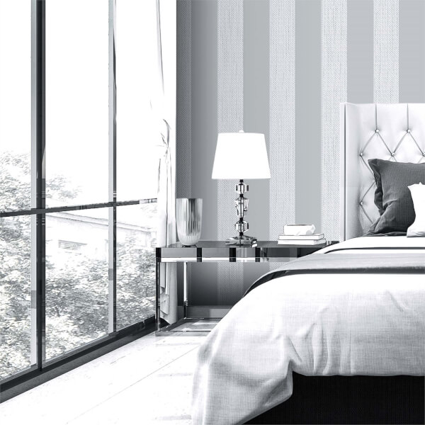 Belgravia Decor Amelie Grey Stripe Wallpaper