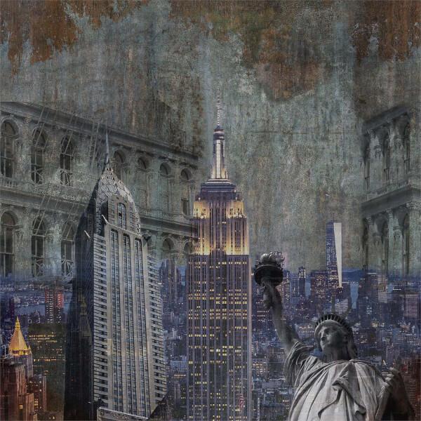 Grandeco Life Digital Mural New York Patchwork - Multi