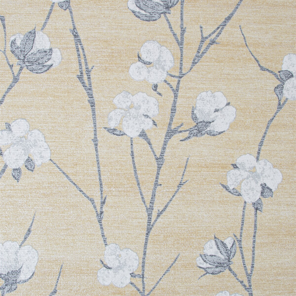 Superfresco Easy Cotton Flower Ochre Wallpaper