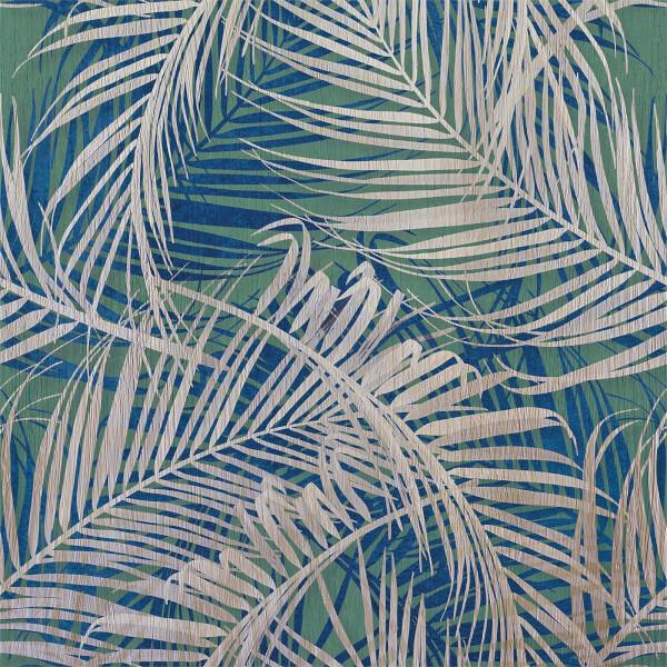 Grandeco Life Digital Mural Digital Leaf - Teal