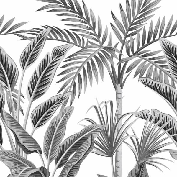 Grandeco Life Digital Mural Paysage - Black & White