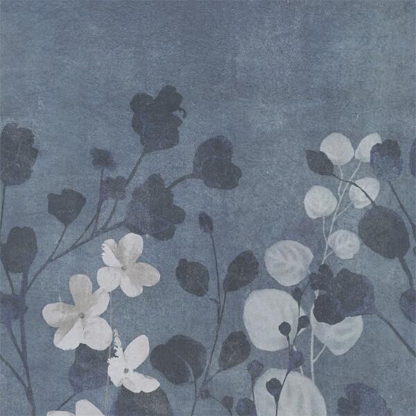 Grandeco Life Digital Mural Concrete Flower - Grey