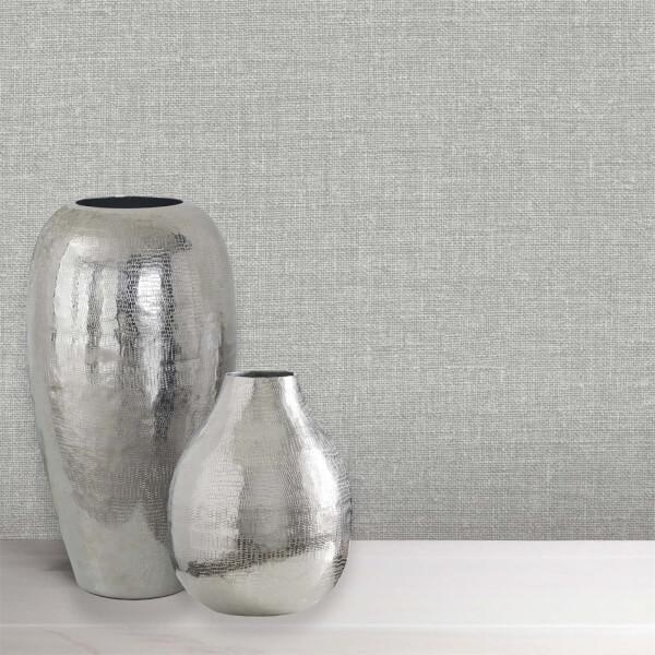 Belgravia Decor Organica Silver Texture Wallpaper