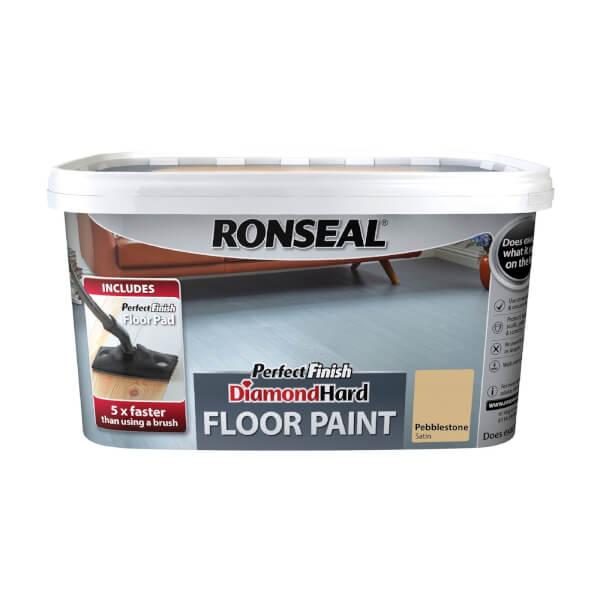 Ronseal Pebblestone - Perfect Finish Diamond Hard Floor Paint - 2.5L