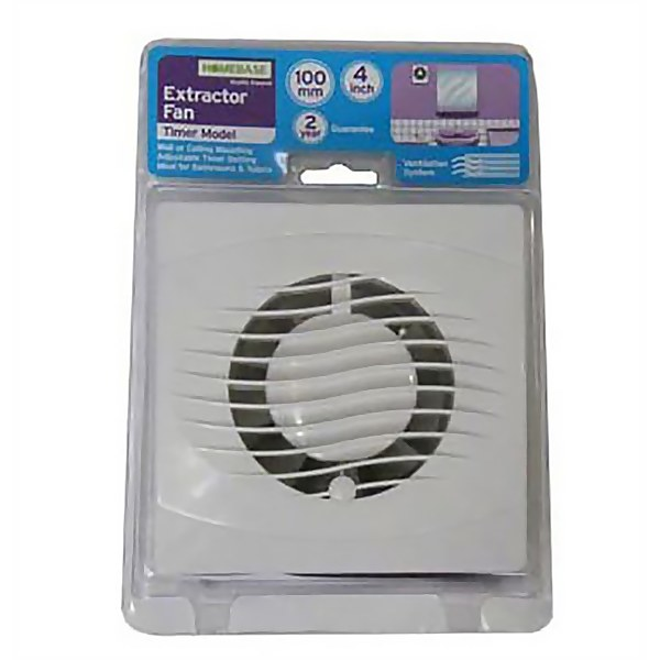 Wall and Ceiling Extractor Fan With Timer
