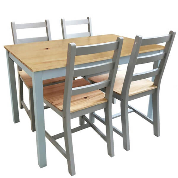 Mortimer Pine 4 Seater Dining Set