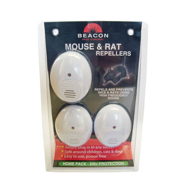 Beacon Mouse and Rat Repeller - 46m2 range (Pack of 3)