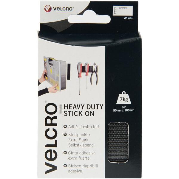 VELCRO? Brand Heavy Duty Stick-On Strips - White - 2 Pack