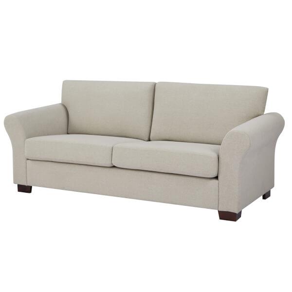 Hayley 3 Seater Sofa - Natural Linen Slub
