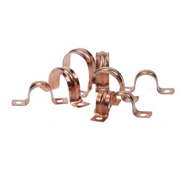Saddle Clip - Copper - 22mm - 10 Pack