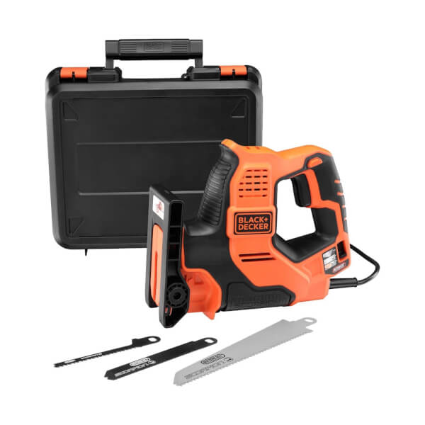 BLACK+DECKER Scorpion Auto-select 500W Powered Hand Saw with Blades and Kit Box (RS890K-GB)
