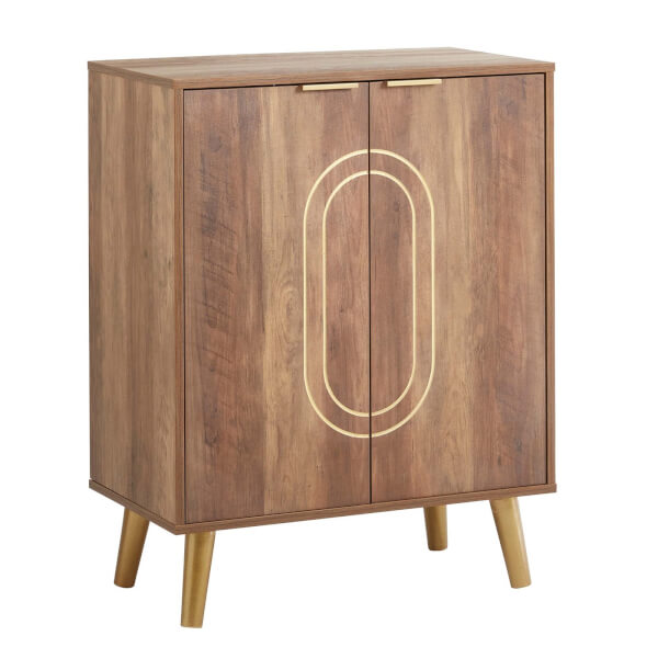 Moscow Dark Wood Drinks Cabinet