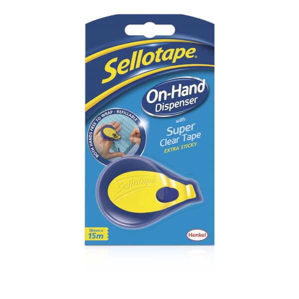 Sellotape Super Clear Tape On-Hand Dispenser