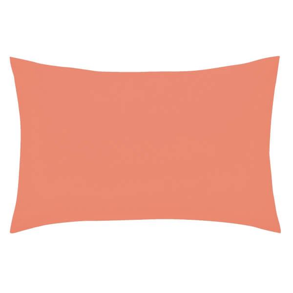 Helena Springfield Copenhagen Plain Dye Pillowcase Standard - Coral