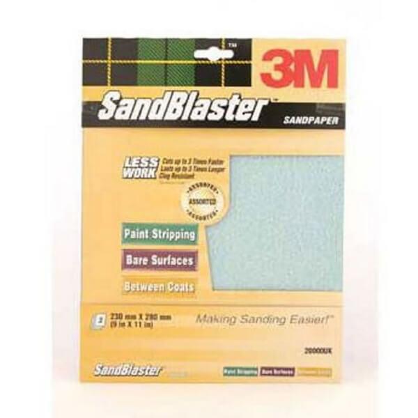 3M SandBlaster Assorted Sandpaper - 3 Pack