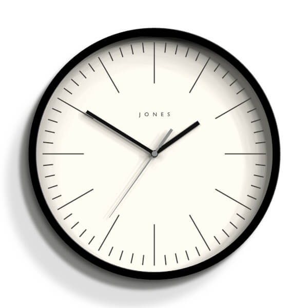 Jones Spartacus Wall Clock - Black