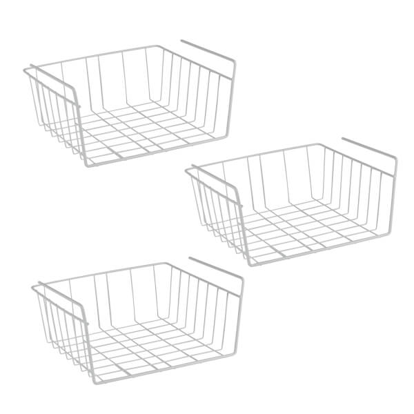 Set Of 3 Under Shelf Storage Baskets