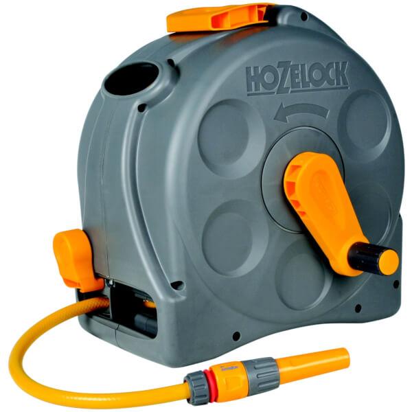 Hozelock 2415 2 in 1 Compact Enclosed Hose Reel - 25m Hose