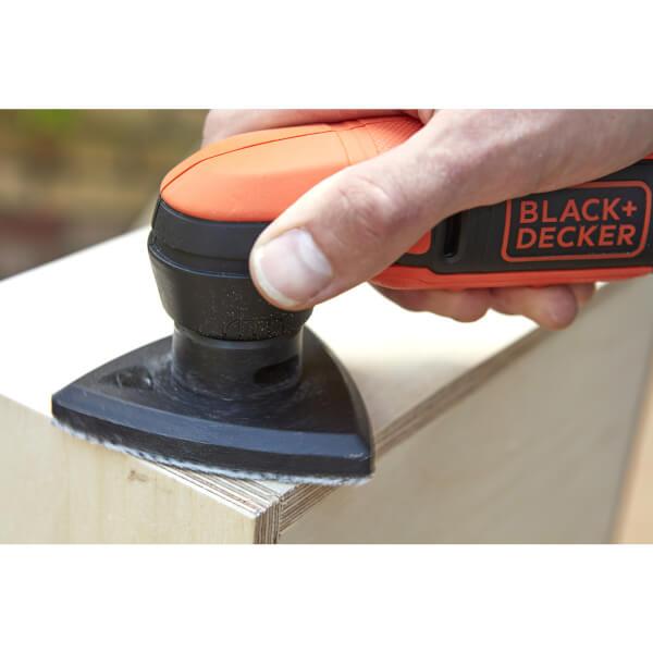 BLACK+DECKER 12V Cordless Detail Sander with Sanding Sheet (BDCDS12S1-XJ)