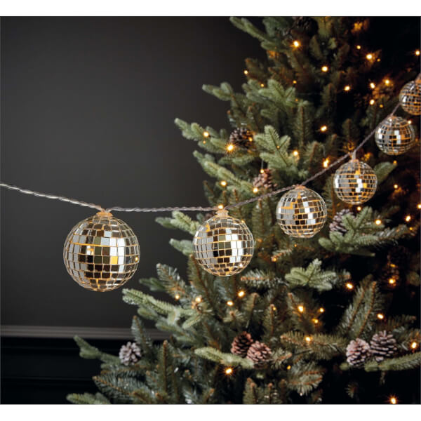 10 Disco Ball String Lights (Battery Operated)