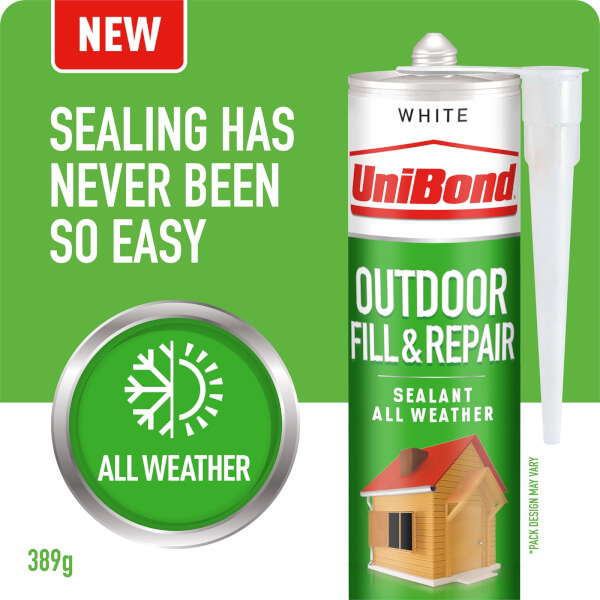 UniBond Outdoor Fill & Repair Sealant White Cartridge 389g