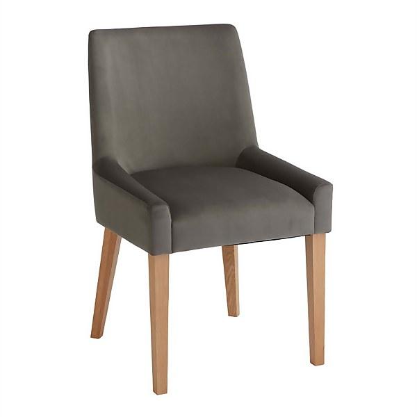 Ella Scoop Back Dining Chairs - Set of 2 - Gun Metal