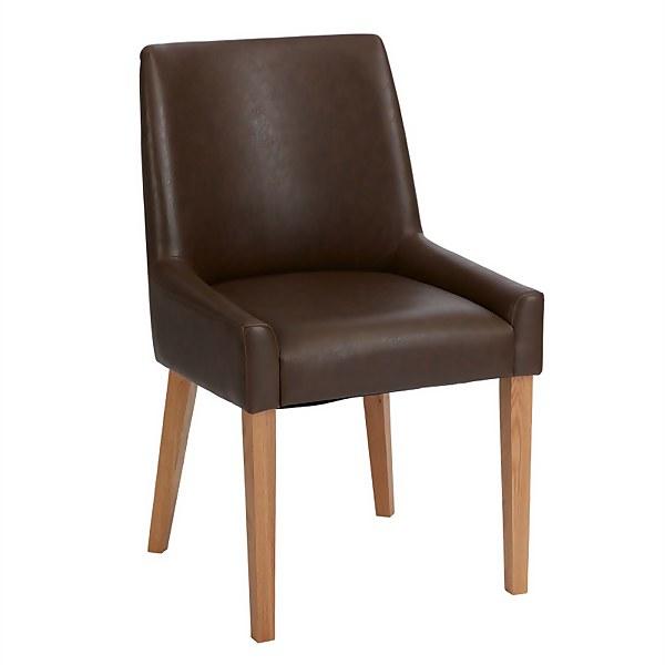 Ella Scoop Back Dining Chairs - Set of 2 - Espresso