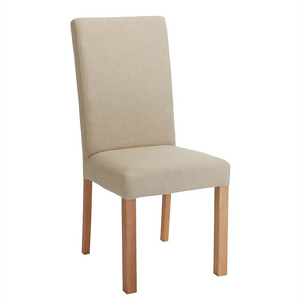 Square Back Dining Chair - Set of 2 - Grey