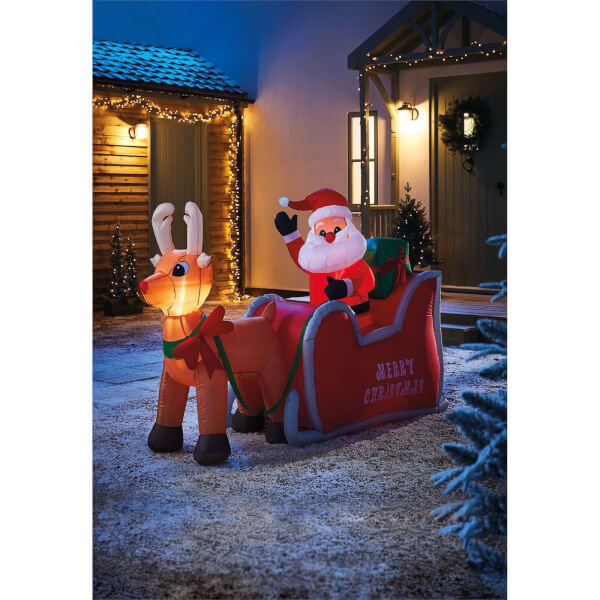 4ft Santa in Sleigh Christmas Inflatable