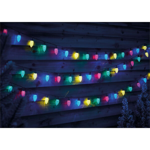 100 Pinecone LED String Lights - Multicolour