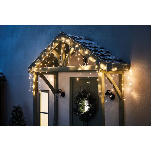 240 Icicle LED Lights - Warm White