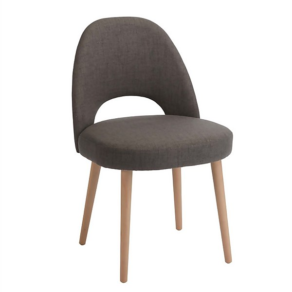 Riga Cali Upholstered Dining Chairs - Set of 2 - Steel