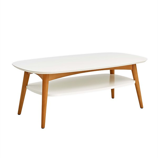 Nordic Coffee Table with Shelf