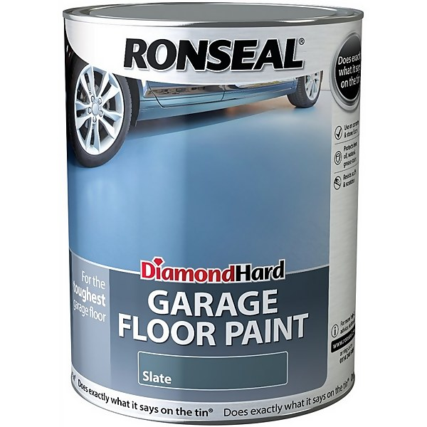 Ronseal Diamond Hard Slate - Garage Floor Paint - 5L