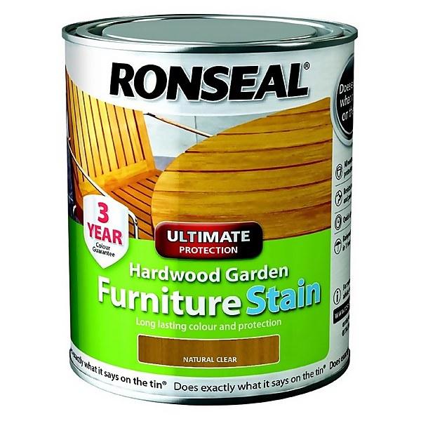 Ronseal Hardwood Garden Furniture Stain Natural - 750ml
