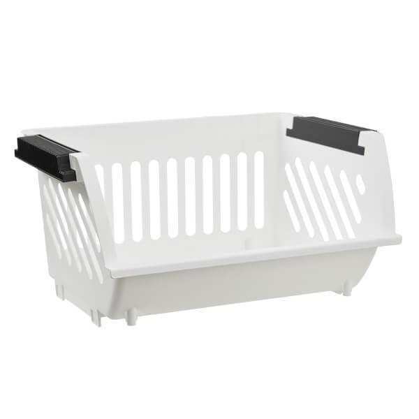 Multi Functional Stacking Basket - White