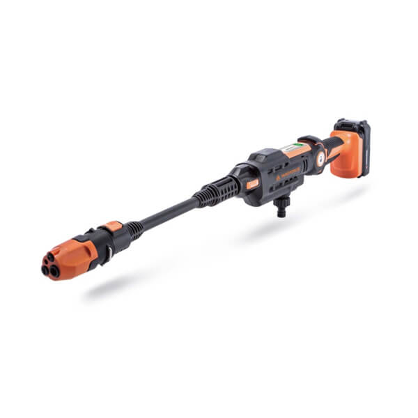 Yard Force 22Bar 20V Aquajet Cordless Pressure Cleaner with 2.5Ah Lithium-Ion Battery, Charger and Accessories