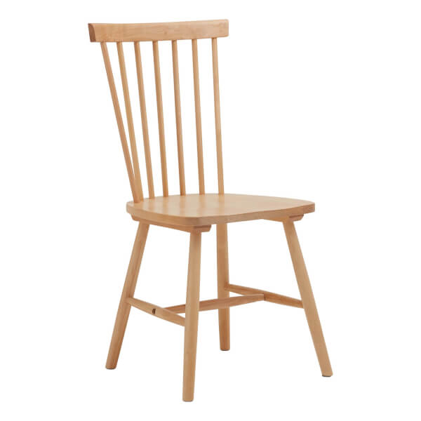 Laura Spindle Back Chair - Set of 2 - Birch