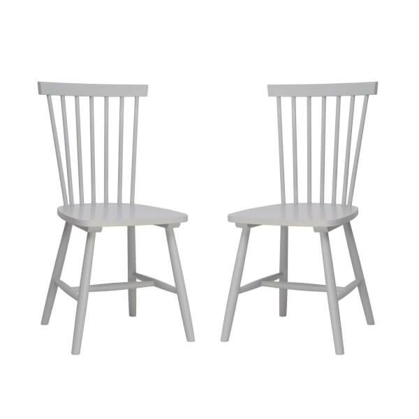 Laura Spindle Back Chair - Set of 2 - Pale Blue