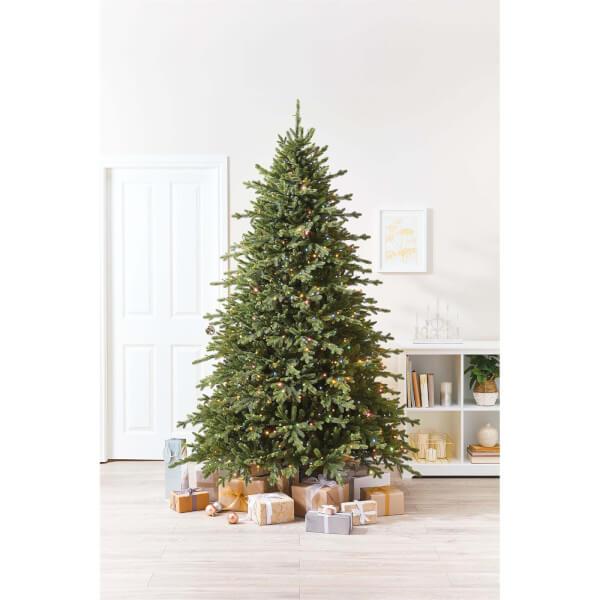 7ft 6 Smokey Mountain Premium Pre Lit Christmas Tree